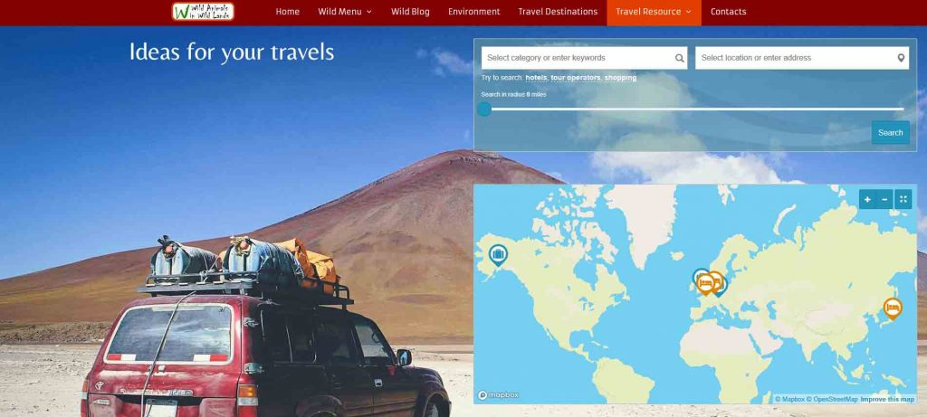 Our new tourism listing home page
